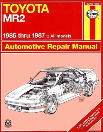 where to buy car manuals 1995 toyota mr2 security system toyota mr2 repair service manual by haynes 1985 1987