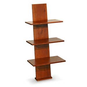 cherry wood shelves three tier solid wood leaning shelf cherry