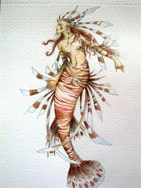 lionfish mermaid by wee beastie on deviantart