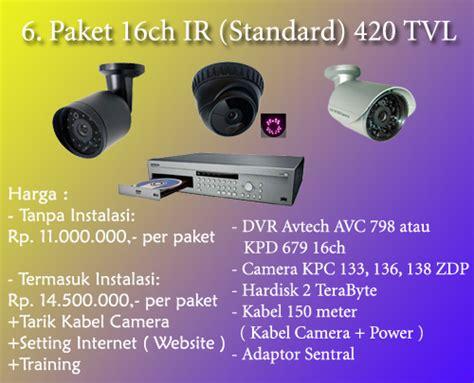 Paket 2 Kamera Cctv Standar paket 16 ch ir standard paket cctv