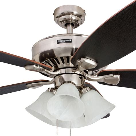 ceiling fans nickel finish honeywell birnham ceiling fan brushed nickel finish 52