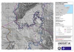 southwest south omo province elevation map unitar