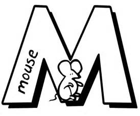 Letter m colouring pages