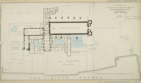 Houses Plan Plan Of The Houses Of Parliament Westminster Hall And The