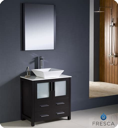 Modern Bathroom Vanities Doral Fresca Torino 30 Quot Espresso Modern Bathroom Vanity With
