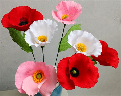 How To Make Paper Poppy Flowers - how to make paper flowers poppy flower 80