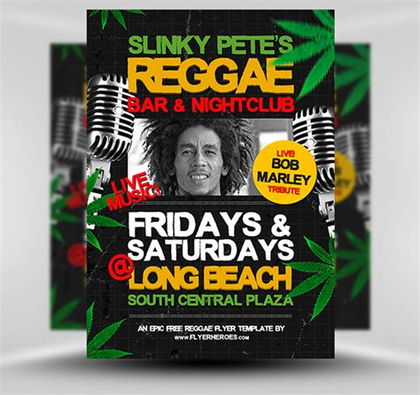 template flyer reggae 20 free print ready psd party flyers and posters