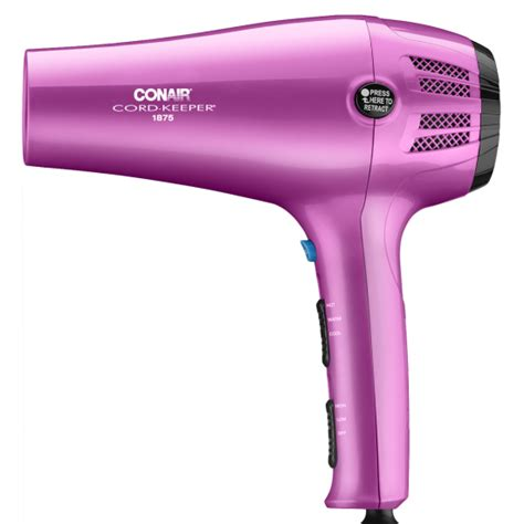 Conair 1875 Hair Dryer Pink conair 1875 watt cord keeper styler