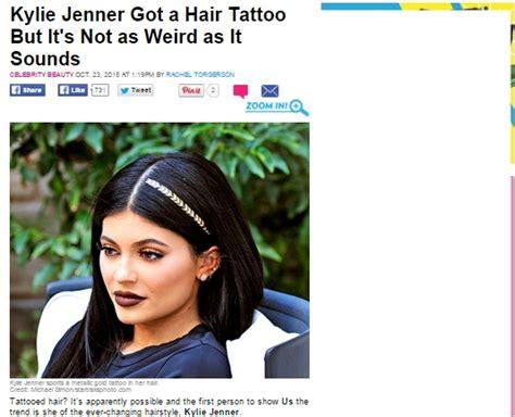tato rambut bintang tato rambut gaya terbaru kylie jenner yang kemungkinan