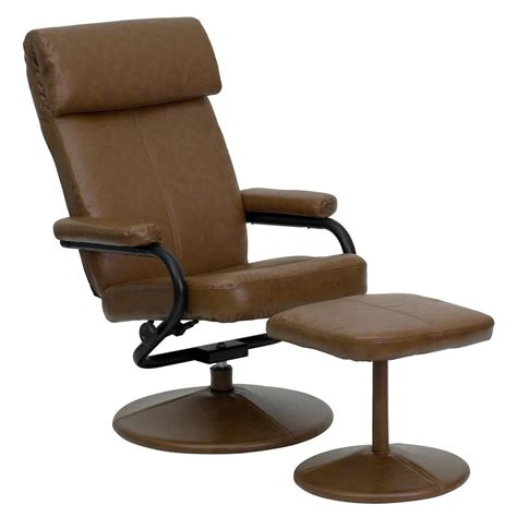 recliner ottoman flash furniture contemporary palomino leather recliner and
