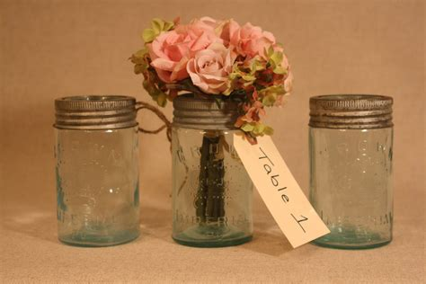 Vintage Mason Jars For Wedding Reception Centerpieces Jars Wedding Centerpieces