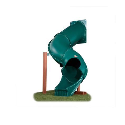 swing set tunnel shop swing n slide tunnel twister green slide at lowes com