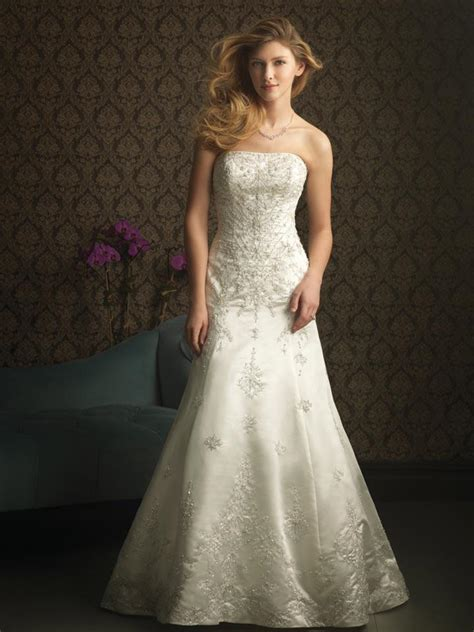 Ivory Wedding Dresses by Ivory Strapless Embroidery Beaded Formal Unique Wedding