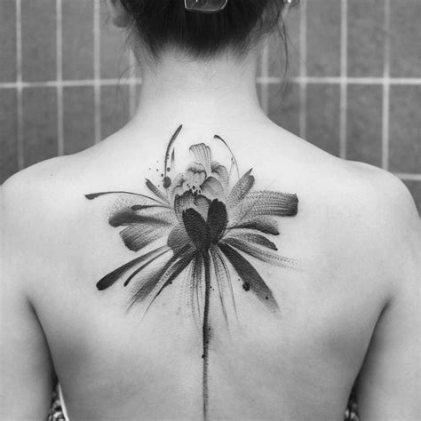 traditional chinese ink wash translated into tattoos by