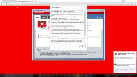 chrome virus pop up tab in google chrome claiming a virus is present on