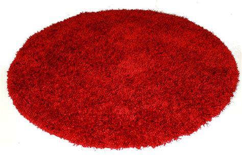 runder roter teppich runde teppiche rot spectrum trendcarpet de