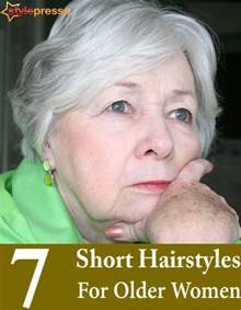 7 Short Hairstyles For Older Women   Style Presso
