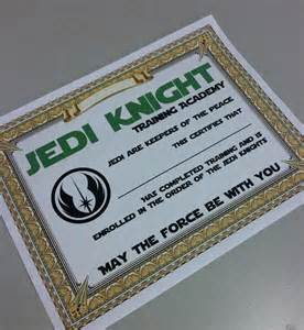 wars jedi certificate template free 8 best images of wars certificate printable