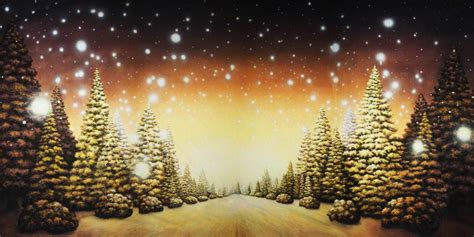 christmas tree path scenic stage backdrop rental