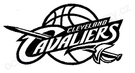 cavs coloring pages cleveland cavaliers logo black sketch coloring page