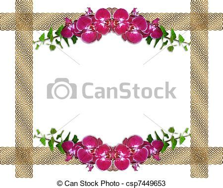 Frame Photo Meja Cantik Bunga Pink drawings of pink orchids border image and illustration composition csp7449653 search