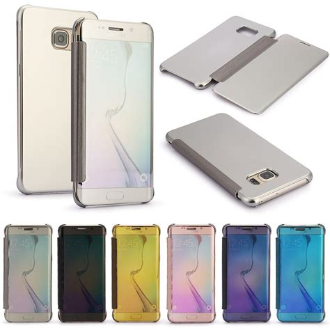 Flipcover S Clear Samsung S6s6 Edge luxury mirror clear view slim smart cover for samsung galaxy s6 s6 edge s7 ebay