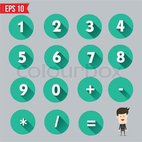 free 9 flat long shadow icons vector titanui numbers and mathematical symbols flat and long shadow icon