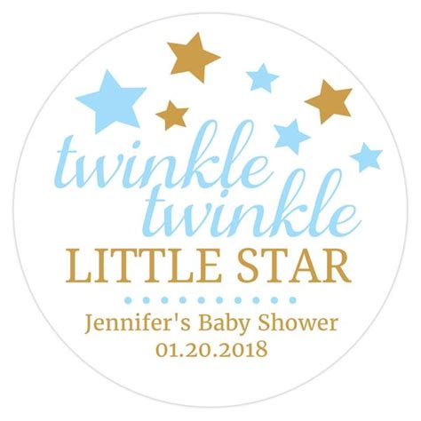 twinkle twinkle little star 0785326936 twinkle twinkle little star baby shower stickers dazzling daisies