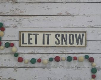 Yum Market Finds Let It Snow by Let It Snow Sign Etsy
