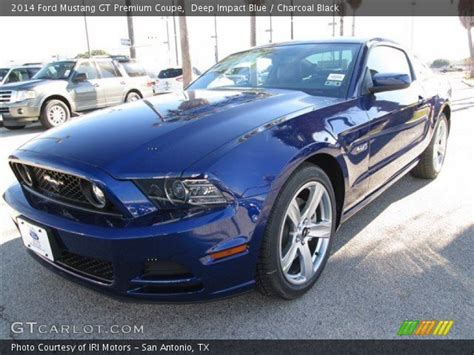 2014 mustang gt impact blue impact blue 2014 ford mustang gt premium coupe