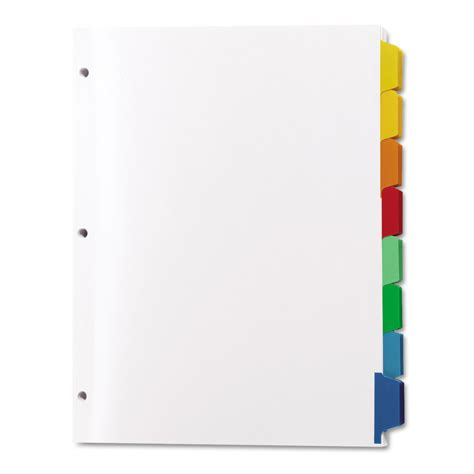 color dividers print apply clear label dividers w color tabs by avery