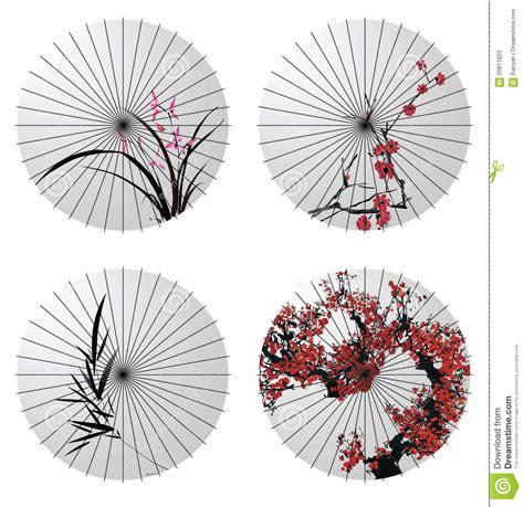 japanese umbrella pattern japanese umbrella stock vector image of vector bamboo