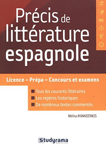 prcis de grammaire espagnole 2011352134 pr 233 cis de litt 233 rature espagnole t 233 l 233 charger pdf de m 233 lina ayanniotakis erukeran