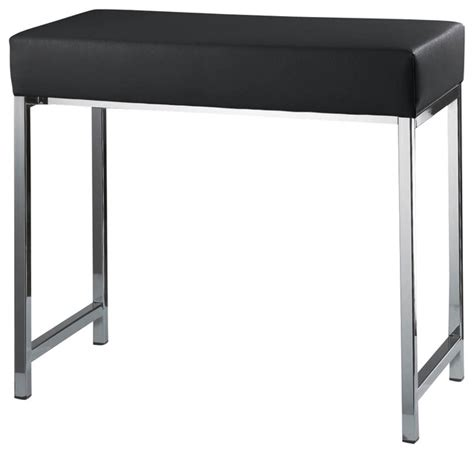 black shower bench harmony 503 bench in chrome and black contemporary