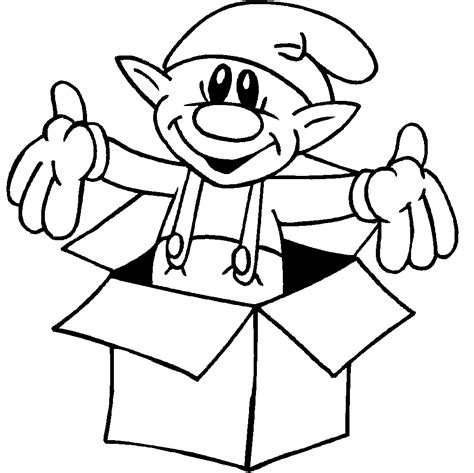 coloring pages of santa s elves santas elf coloring pages coloring home