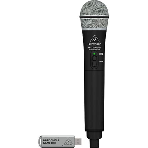 Behringer Wireless Microphones Systems Ultralink Ulm202usb Set behringer ulm300usb 2 4 ghz handheld digital wireless system dual mode receiver musician s