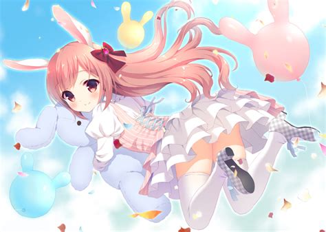 Jumps Lolis 3840x2160 anime bunny ears loli dress jumping wallpapers for uhd tv