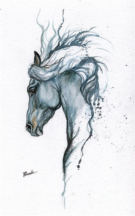 watercolor tattoo horse best 25 ideas on paintings