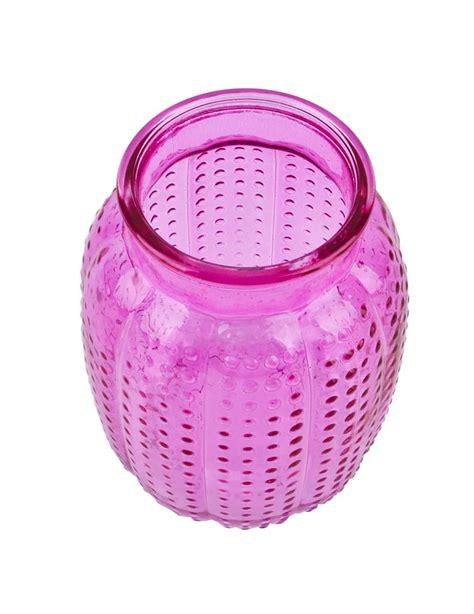 Deko Vasen Glas by Flasche Deko Vase Glas 14x10x10cm Pink 5 95