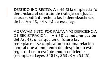 empleo no registrado multas de las leyes 24013 y 25323 estatutos especiales derecho del trabajo