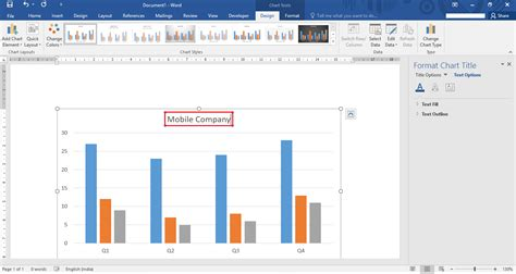 word graph layout how to edit insert a chart in microsoft word 2016