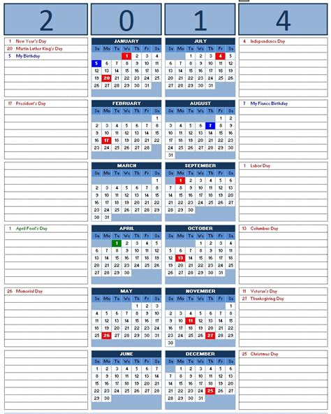 excel yearly calendar template excel year calendar template calendar template 2016
