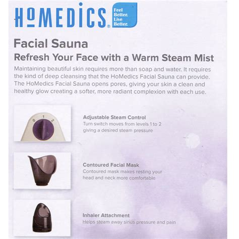 How Often To Do A Cleanse Detox Steamer by Homedics Skin Steamer Mist Cleansing Sauna