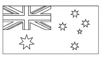 Australia Flag Coloring Page Sketch sketch template