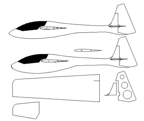 cardboard glider template styrofoam airplane template images