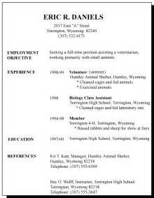 Time Resume Exles by 1st Time Resume Exles Business Templated Business Templated