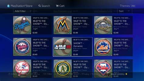 ps4 themes available mlb 15 the show dynamic themes now available on ps4