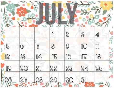 printable calendar 2017 cute july 2017 calendar cute calendar template letter format
