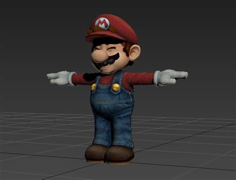 mario super smash  model turbosquid