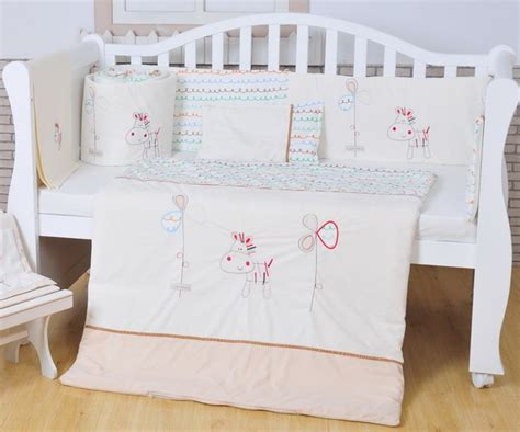 white nursery bedding sets 100 cotton white baby bedding set embroidery lovely pony crib bedding set 5 item quilt pillow